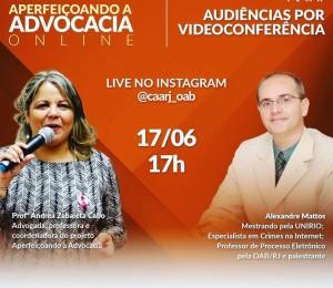 Live: Audiência por videoconferência
