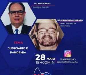 Live: Judiciário e Pandemia